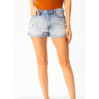 Denim Jean Short-Light Wash