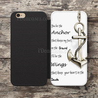 Quotes Anchor infinity Wallet Case For iPhone 6S Plus 5S SE 5C 4S case, Samsung Galaxy S3 S4 S5 S6 Edge S7 Edge Note 3 4 5 Cases