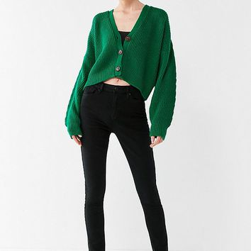 UO Jem Cropped Cardigan | Urban Outfitters