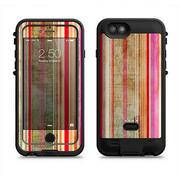The Smudged Pink Painted Stripes Pattern  iPhone 6/6s Plus LifeProof Fre POWER Case Skin Kit