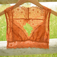 Cutout Back Bralette Copper