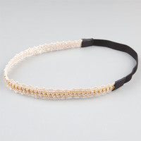 Full Tilt Crochet Rhinestone Headband Natural One Size For Women 24189242301