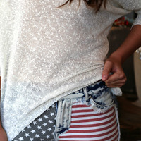 Faded Stars + Stripes Short