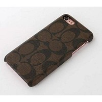 COACH iPhone Phone Cover Case For iphone 6 6s 6plus 6s-plus 7 7plus Protective Case Coffee F