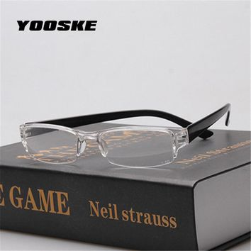 YOOSKE Small Ultra-light Reading Eyeglasses Plastic Reading Glasses Men Women One-piece Presbyopic Glasses  Eyeglass For Older