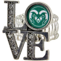 Colorado State Rams Womens Love Stretchy Ring - http://www.shareasale.com/m-pr.cfm?merchantID=7124&userID=1042934&productID=520979383 / Colorado State Rams