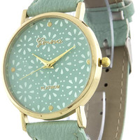 Geneva Floral Cut-Out Watch