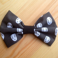 No Face Spirited Away Inspired Hair Bow // Bow tie.