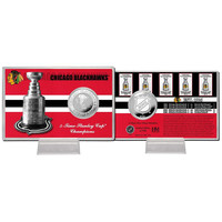 Chicago Blackhawks Stanley Cup inHistoryin Silver Coin Card