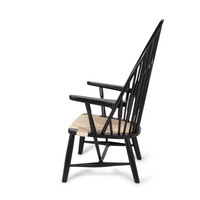 Ash Wood Peacock Chair Black