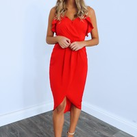 Perfect Time For Love Dress: Red
