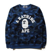 BAPE A Bathing Ape Blue Camo Sweatshirt