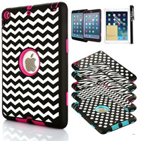Shockproof Heavy Duty Rubber Hard Case Cover For Apple iPad Mini 3 2 1 Retina  Free Shipping