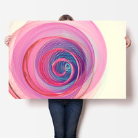 Fibonacci Spiral Art Print - Sacred Geometry - Golden Ration Art, Digital Download | Pink Indie Home Decor by Mila Tovar