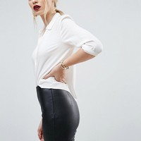 ASOS Spray On Leather Look Pant at asos.com