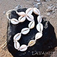 Kailua Cowry Gold Hawaiian Necklace / Bracelet