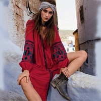Vintage dresses Fashion Casual Holiday women