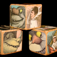 Where The Wild Things Are - Childrens Wooden Blocks - Birthday Party Decor