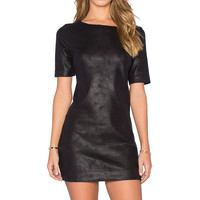 Level 99 Audrie Suede Shift Dress in Matrix