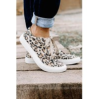 Lala Leopard Canvas Sneakers