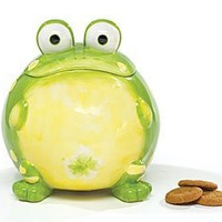 Toby The Toad Frog Cookie Jar Canister For Kitchen Decor And Food Storage