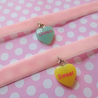 Pastel Fairy Kei Sweet Velvet Chokers