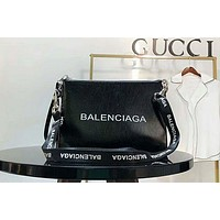 BALENCIAGA  fashion women's high-end graffiti series shoulder bag Black