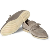 Loro Piana - Anytime Walk Tasseled Suede Loafers | MR PORTER