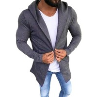 Winter Hoodie Male Cardigan 2018 New Long sleeve hoodies men Zipper Sweatshirt Hoodies Mens Hooded Plus size Coat Jacket