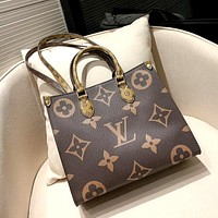 LV 2019 new women's models wild high-end double-sided shopping bag handbag