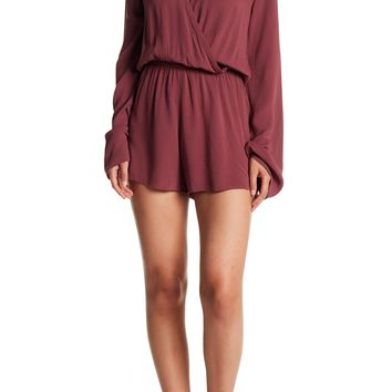 Love Stitch   Long Bell Sleeve Wrap Front Romper   Nordstrom Rack
