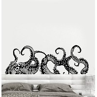 Vinyl Wall Decal Tentacles Octopus Kraken Marine Monster Stickers Unique Gift (ig4299)