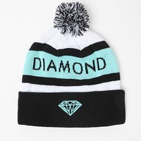 Diamond Supply Co Brilliant Pom Beanie - Mens Hats - Black/Mint - One