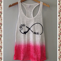 Burnout Ombre Razor Tank- You Love Me Infinity