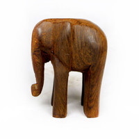 African Elephant Wood Carving - Made in Ghana
