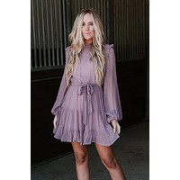 It's In The Air Dress - Mauve