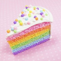 Pastel Rainbow Cake Polymer Clay Magnet
