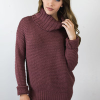 Here We Are Turtle Neck Sweater