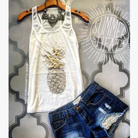 NEW! Golden Pineapple Tank