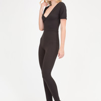 Basically Perfect V-Neck Jumpsuit GoJane.com