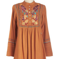 ModCloth Boho Long 3 Grow As You Please Top