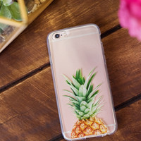 Pineapple Top Clear IPhone Case