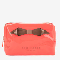 Large bow cosmetic bag - Orange | Gifts for Her | Ted Baker