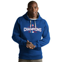 Men's Chicago Cubs Antigua Royal 2016 World Series Champions Victory Pullover Hoodie