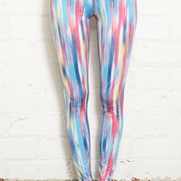 Abstract Stripes Performance Leggings