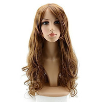 """BTOOP 32"""" Long Curly Cosplay Wig for Women With Wig Cap and Comb (Brown)"""