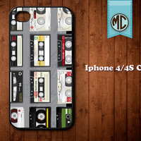 Cassette Party iPhone Case - Plastic or Silicone Rubber iPhone 4 4S Case Cover - MC117