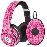 Pink Flower Power Skin for the Beats Studio Headphones & Case by skinzy.com