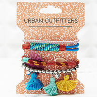 Flourescent and Tassle Hairbands in Cobalt - Urban Outfitters
