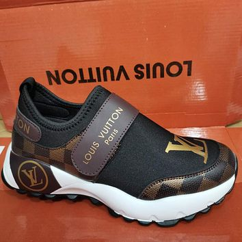 Luxury Louis Vuitton-women Running Shoes Breathable Casual Shoes Outdoor Light Weight Sports Shoes Casual Walking Sneakers 229